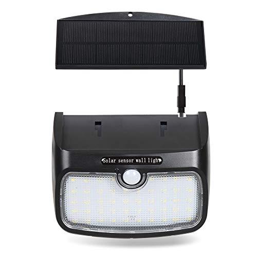 T-SUN Luce Solare 48 LED, Lampada Wireless ad Energia Solare da Esterno Impermeabile con Sensore di Movimento, 3 Modalità Funzione, per Parete, Muro, Giardino, Terrazzino, Cortile, Casa ecc.