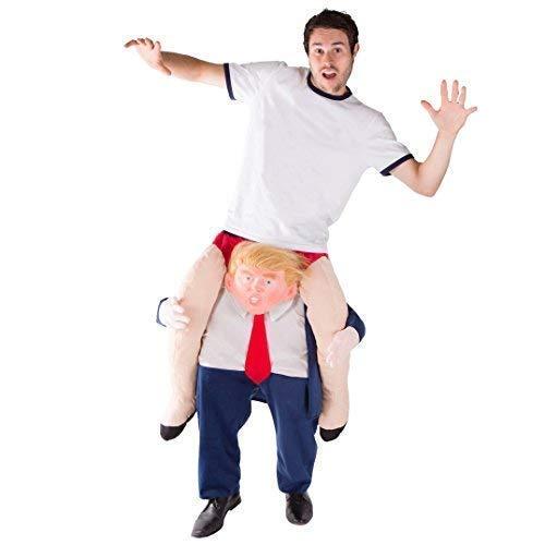 Bodysocks® Costume da Donald Trump a Cavalluccio (Carry Me) per Adulti