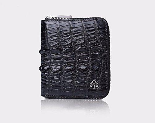 lpkone-Nouveaux sacs à main sacs à motif crocodile fashion gros portefeuilles verticale courte paquet carte format portefeuille Black