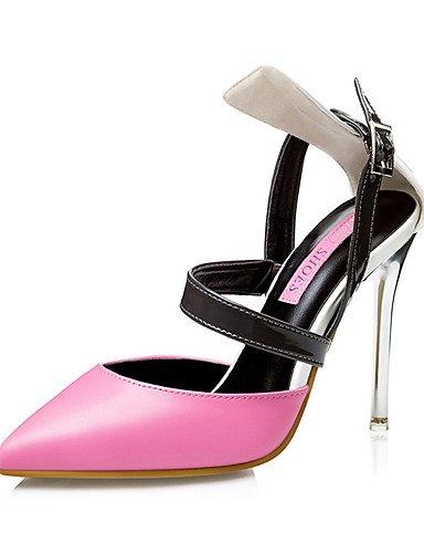 WSS 2016 Chaussures Femme-Mariage / Habillé / Soirée & Evénement-Noir / Jaune / Rose-Talon Aiguille-Talons / Bout Pointu-Talons-Similicuir black-us5.5 / eu36 / uk3.5 / cn35