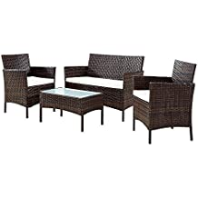 Set Da Giardino In Rattan Usati.Amazon It Salottino Da Esterni