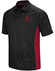 "Alabama Crimson Tide NCAA ""Wedge"" Men's Performance Polo shirt Chemise - Black"