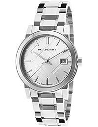 bdf5f55dd52d Burberry bu9100 – Montre Bracelet pour Femme, Bracelet en Acier Inoxydable  Couleur Argent