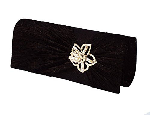 XPGG Damen Party Clutch Hardcase Abendtasche Synthetik 018 schwarz