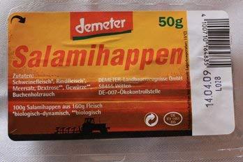 demeter Bio Salamihappen (6 x 50 gr)