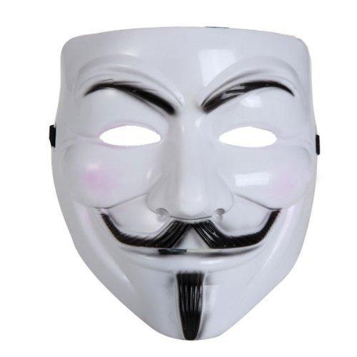 endetta Maske Halloween Kostum Party Kunststoff Weiß ()