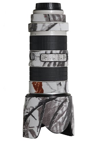 LensCoat Lens Cover for Canon 70-200IS f/2.8 Camouflage Neoprene Camera Lens Protection (Realtree AP Snow) Lenscoat Lens Cover