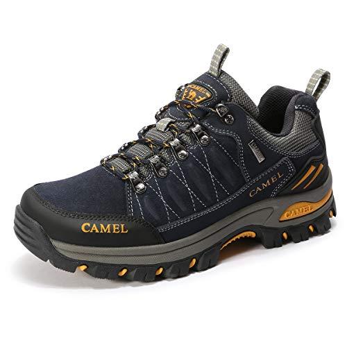 CAMEL CROWN Scarpe da Escursionismo Uomo Scarpe da Tennis Low-Top Scarpe da Arrampicata Professionali Antiscivolo per Tutte Le Stagioni Escursioni e Trekking