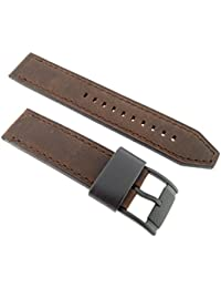 Fossil FS 4656 Leather Bracelet lb FS4656 Original Replacement Watch Strap 22 mm