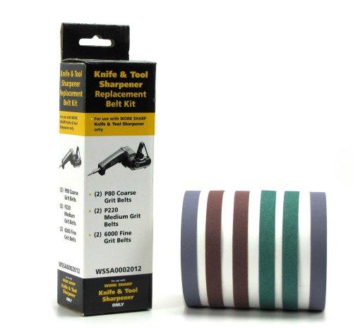 Böker Work Sharp Schärfband-Sortiment 80/220 / 6000 09DX010 - Perfekte Erweiterung für den Messerschärfer