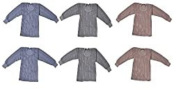 Krystle Kids Unisex Thermal Top(UPPER) PACK OF 6 (1-2 Years)