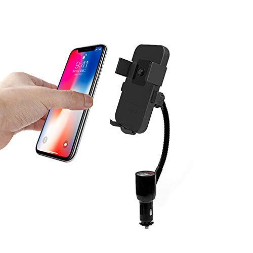 ZDZHU 2in1 Accendisigari Dual-USB Caricabatterie per Auto Smart con  Supporto per Telefono Supporto per iPhone XS Max XR X 8/7/6 / 6s Plus  Samsung
