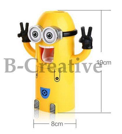 B-creative Cute mural 1ou 2yeux Minions Distributeur de dentifrice et brosse à dents support