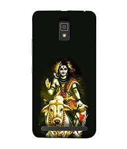 PrintVisa Designer Back Case Cover for Lenovo A6600 (Lord god Shiva Animal Sitting)