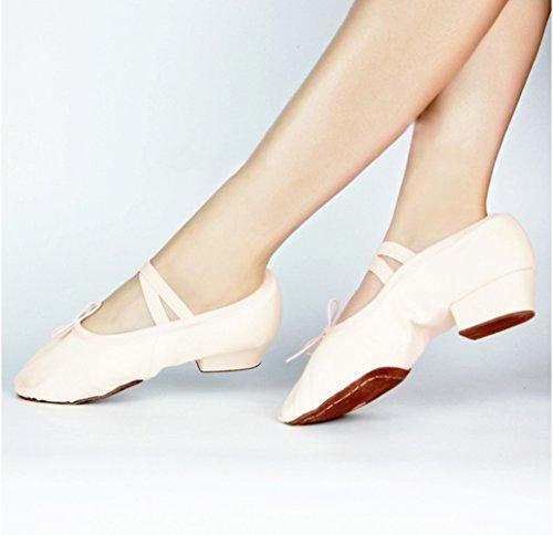 Mintice™ Erwachsene Reine weiche Canvas Bauchtanz Gymnastik Schuhe Ballet Tanzschuhe Schnürschuhe Jazzschuh Ballettschuh Pink