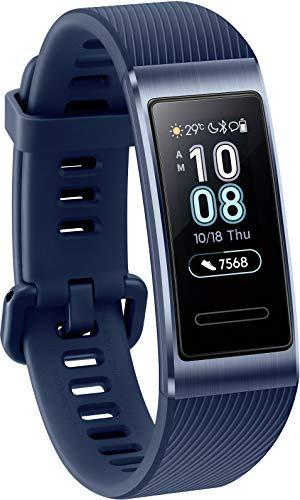 Huawei TER-B19 Band 3 Pro mit Herzfrequenzmesser, autonomen GPS TruSleep-Schlafmonitor Space Blau