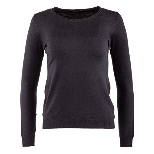 REAL CASHMERE Pull Laine Cachemire col Rond Femme Real Cashemere XL Noir 3a497f5f3e4