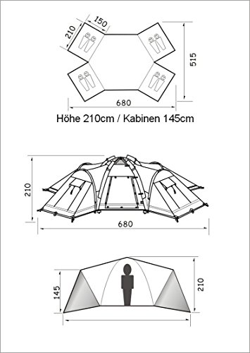 NEUMAYER - AUFBLASBARES Familien-Zelt - Air-Rise-Technik - Modell