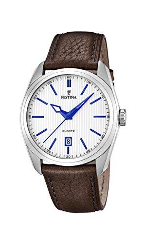 Festina Herren-Armbanduhr XL Analog Quarz Leder F16777/2