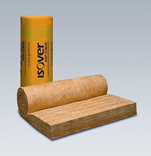 ISOVER Integra ZKF 1-035 Zwischensparren-Klemmfilz | Dicke: 120 mm (4,8 m lang) | Rolle 1200 mm breit |