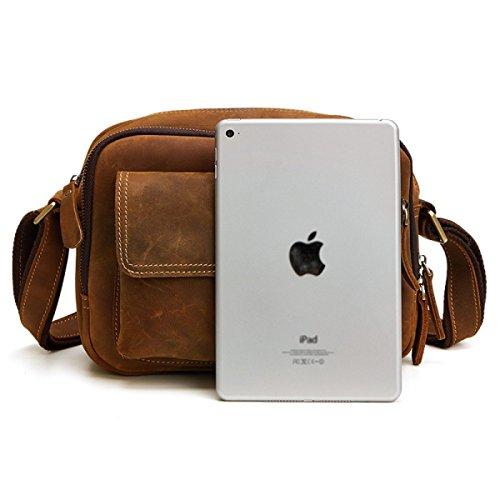 Fzly Bag Bag Messenger Uomo Messenger Darkcoffeecolor Casual aXwprqOa