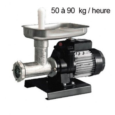 Reber n.12 9501n tritacarne elettrico, ghisa stagnata, 500w, nero/grigio