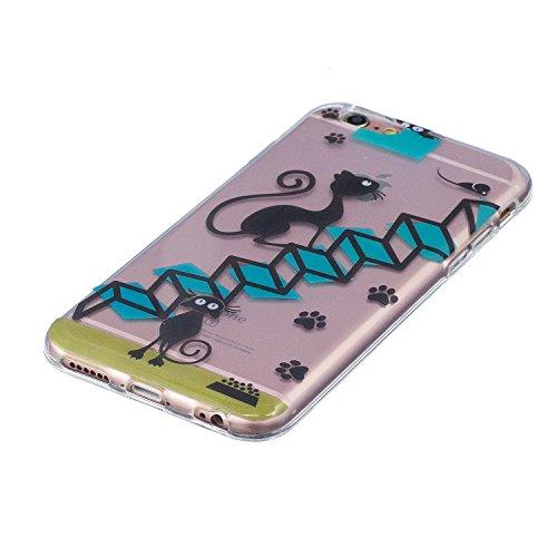 Cover iPhone 6S, Custodia iPhone 6, CaseLover Custodia per iPhone 6S / 6 (4.7 Pollici) Ultra Sottile Trasparente Morbida Gomma Gel TPU Silicone Protectiva Corpeture Flessibile Cristallo Chiaro Liscio  Le scale