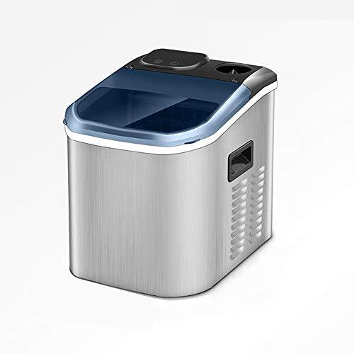 Tragbare Tisch-Eismaschine, Die Alle 24 Stunden 55 Pfund EIS Herstellt Und 24 EisstüCke In 10-15 Minuten Mit Wasser In Flaschen/Manuellem Wasservorrat Herstellt