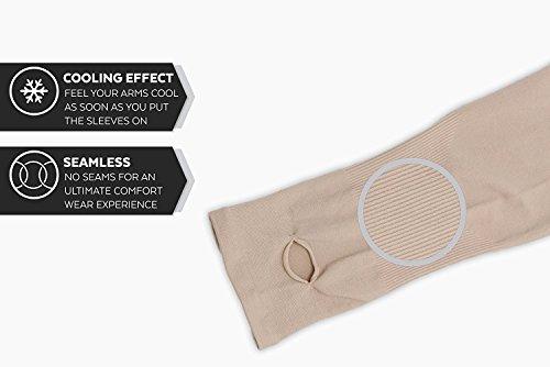 Koroshni-UV-Protection-Arm-Sleeves-hand-socks-for-men-and-women-unisex-used-for-drivinghiking-sportsbiking-cyclingsunburn-dust-pollution-protectionBlack