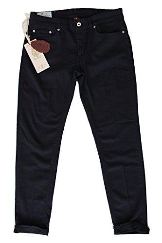 DonDup Pantalone Donna Monroe Blu 5 Tasche (25, Blu)