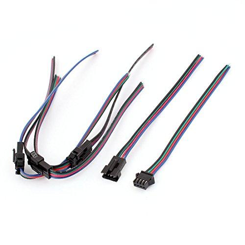 X-Dr 4 Paar 4-polige 4P-Buchse mit JST-SM-Steckerkabel für RGB-LED-Streifen (68d66953ae872e748e9668794453142c)