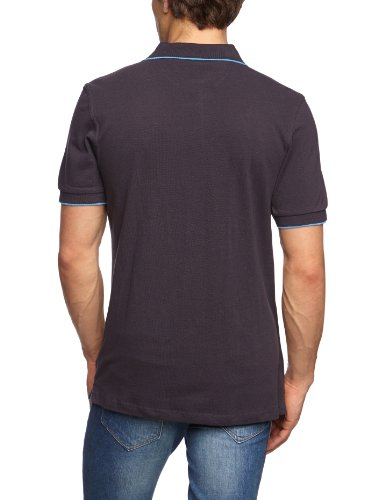 James & Nicholson Herren Poloshirt Graphite/Aqua