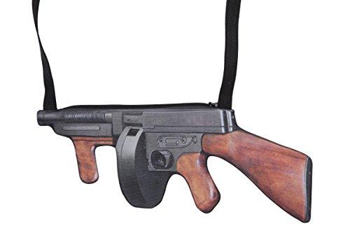 Wilbers Kostüm Zubehör Tasche Handtasche Maschinengewehr Mafia ()