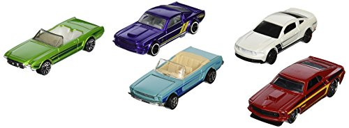 Hot Wheels, 2015 HW City, Mustang 50th [2010 Mustang GT, \'63 Mustang II Concept, 65 Mustang, 69 Mustang, and Mustang Fastback] by Hot Wheels