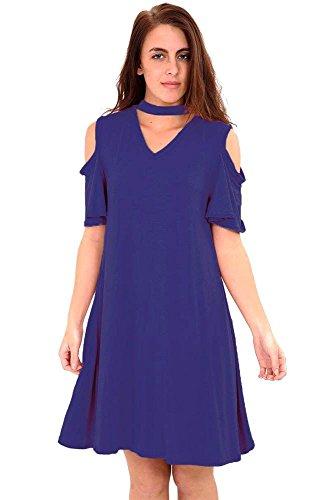 Generic - Robe - Robe - Manches Courtes - Femme * Bleu Marine