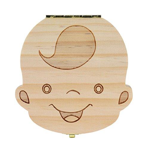 LHWY Entreposage du bois bébé dents boîte dents de lait pour enfants garçon & Girl (B)