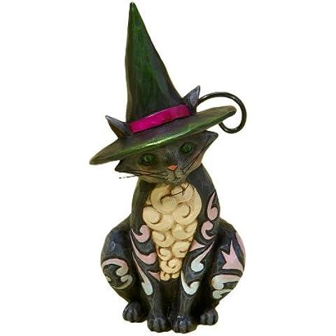 Jim Shore Heartwood Creek from Enesco Halloween Cat Mini Figurine 3.875 (Halloween Jim Shore)