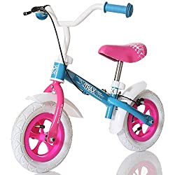 LCP Kids Kinder Laufrad Trax ab 2 Jahren; Seilzug Bremse; Bis 20 kg; Ergonomischer Sattel; Rosa