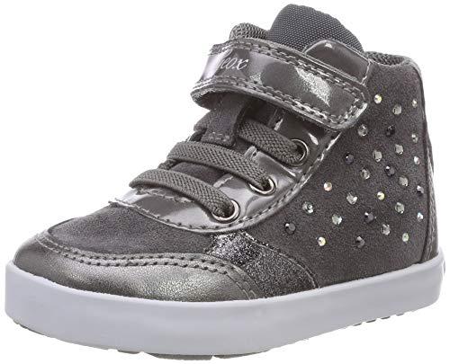 Geox Baby Mädchen B Kilwi Girl B Sneaker, Grau (Dk Grey C9002), 23 EU