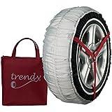 Trendy TRENDY 40-M Funda de Tela para Nieve y Hielo Neumáticos de Turismo, Furgoneta, 4 x 7