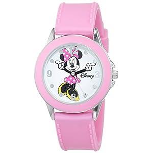 Disney Mädchen Datum klassisch Quarz Uhr mit Gummi Armband MN1442