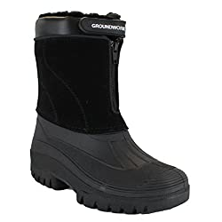 Groundwork LS88 Womens Mucker Stable Yard Winter Snow Zip up Boots Wellies - 41Amtqw03GL - Groundwork LS88 Womens Mucker Stable Yard Winter Snow Zip up Boots Wellies