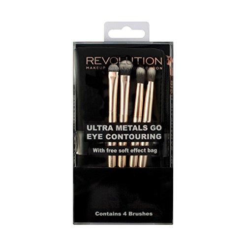 Makeup Revolution - Pinselset - Ultra Metals Go Eye Contouring