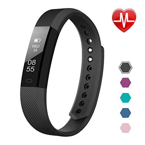 41AmuR9nAYL. SS500  - LETSCOM Fitness Tracker, Activity Tracker Watch with Heart Rate Monitor, Slim Touch Screen and Wristbands, Wearable Waterproof Step Tracker Pedometer Watch for Kids Women and Men