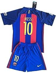 Maillot et short pour enfant Messi n° 10FC Barcelone 2016–17