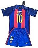 Messi # 10FC Barcelona 2016–17Jugendliche Home Kit-Shirt und Shorts
