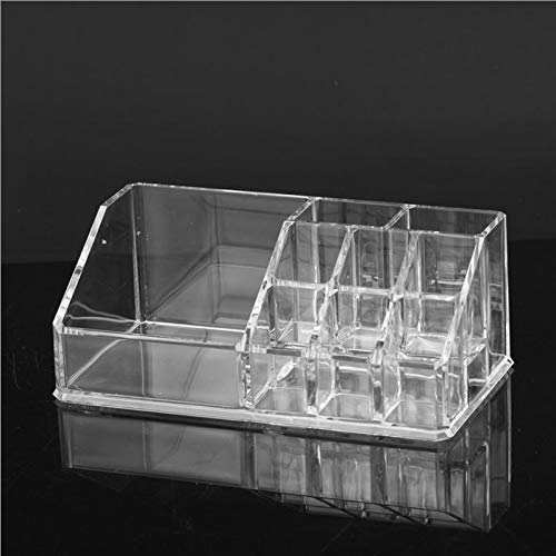 WSNDD Clear Acrylic Makeup Organizer Lipstick Rack Nail Polish Shelf Storage Box Makeup Brush Storage Small Size Desk Storage - Keller-storage-shelf