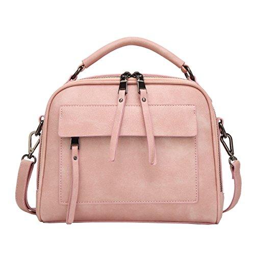 LAIDAYE Spalla Selvaggio Del Pacchetto Della Moda Retrò Messenger Bag Pink