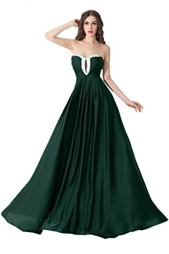 Sunvary Elegant 2015 Neu Abendkleider Chiffon Lang Paillette Ballkleider Dunkelgruen