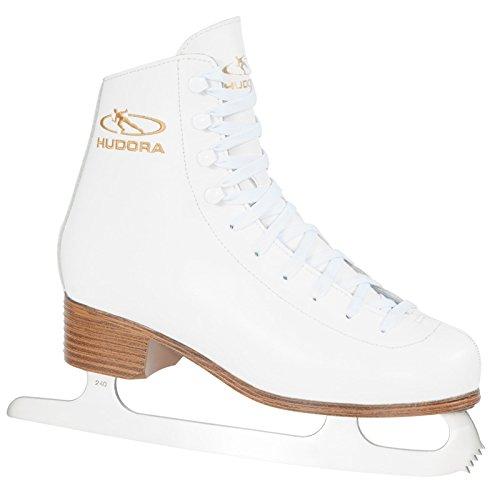 HUDORA Schlittschuhe Laura Gr. 39 weiß Eiskunstlauf Eislaufen Eis Eislauf Retro Schlittschuh